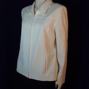 Nordstrom white professonal jacket sz 12